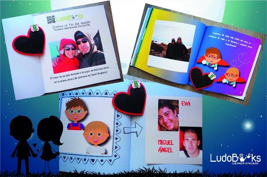 Libro para enamorados con fotos