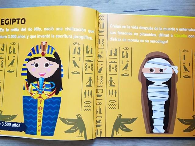Libro personalizado de la Historia - Momias, sarcófago (Egipto)
