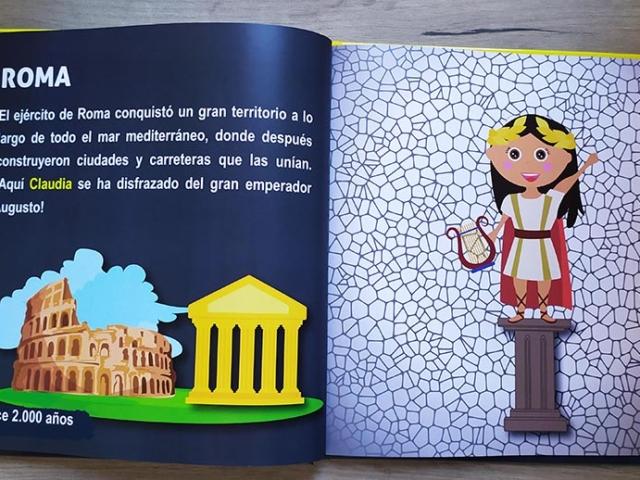 Libro personalizado de la Historia - Coliseum, teatro, mosaico (roma)