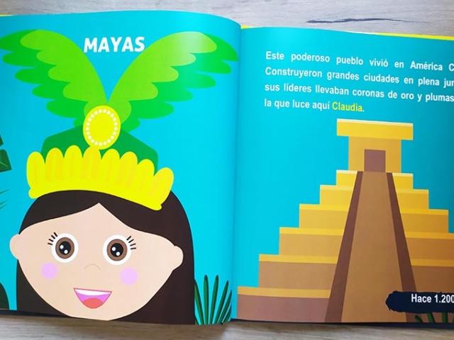 Libro personalizado de la Historia - Pirámide (Mayas)