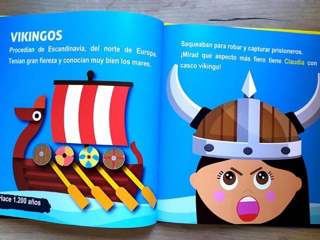 Libro personalizado de la Historia - Barco (Vikingos)