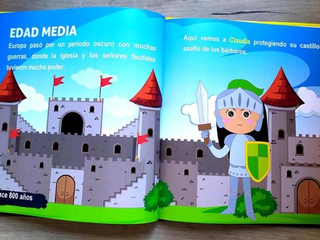 Libro personalizado de la Historia - Medievo, castillo, armadura (Edad Media)