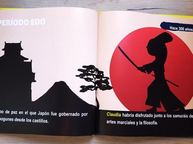 Libro personalizado de la Historia - Castillo, samurai, sol naciente (Japón)