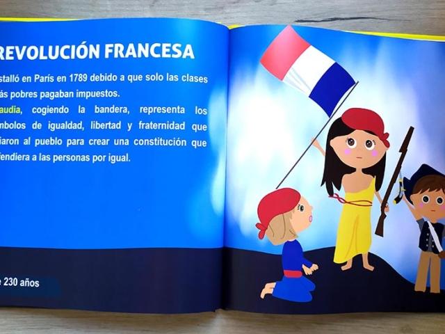 Libro personalizado de la Historia - La libertad guiando al pueblo (Francia)