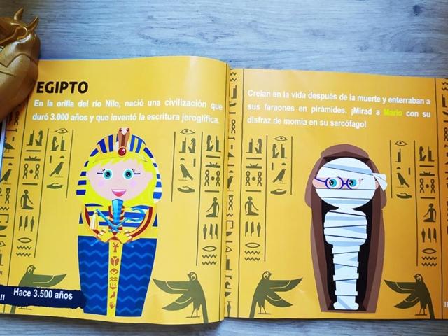 Libro personalizado de la Historia  con 2 personajes (Egipto)