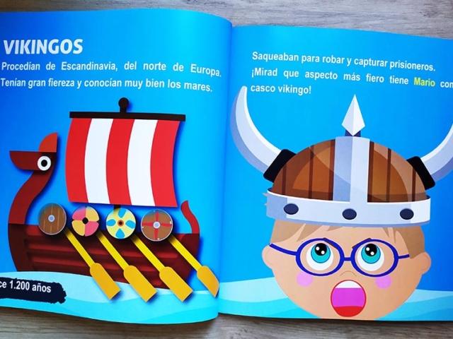 Libro personalizado de la Historia - Vikingos
