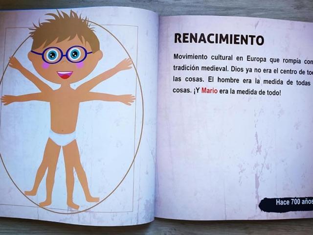 Libro personalizado de la Historia - El hombre de Vitruvio (Renacimiento)