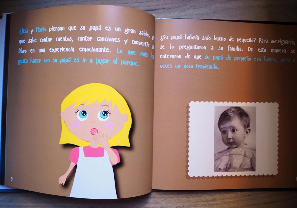 Libro personalizado para papa