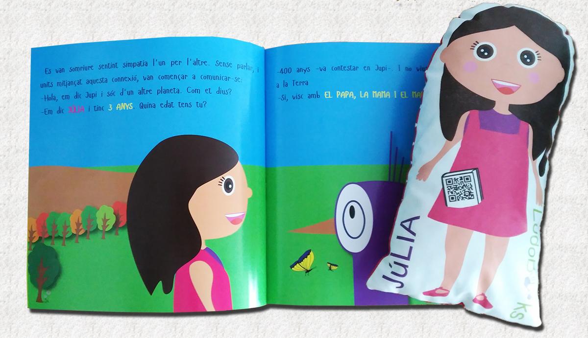 libro personalizado con su muñeco-cuento personalizado