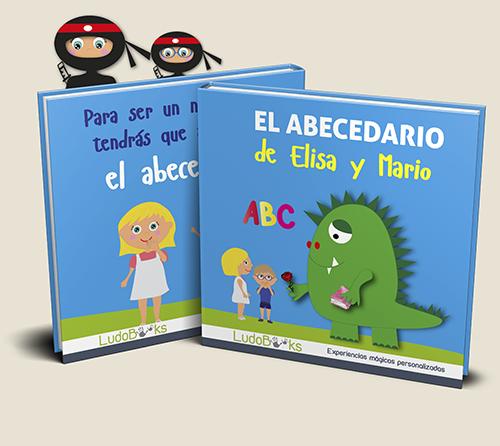 El abecedario | Cuentos personalizados con dos personajes