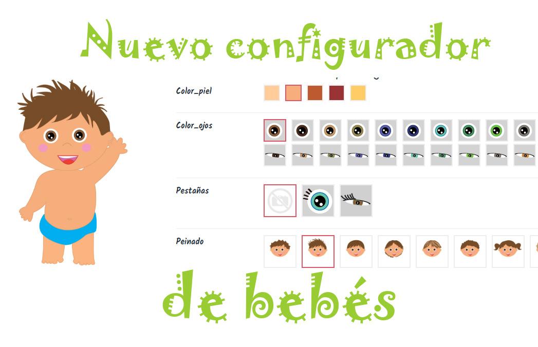 bebe configurador - Libros personalizados para bebés
