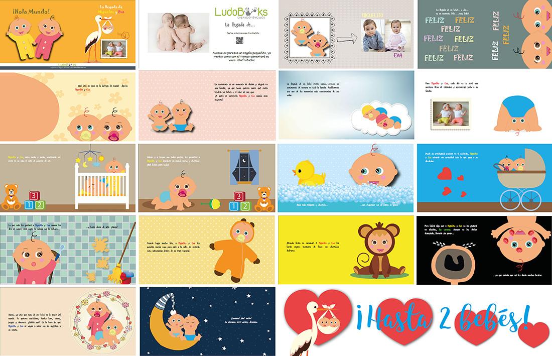 Libros personalizados de bebes - Cuento de muestra