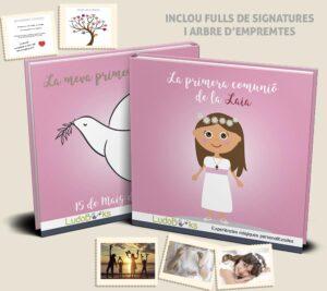 Llibre de comunión per a nenes personalitzat