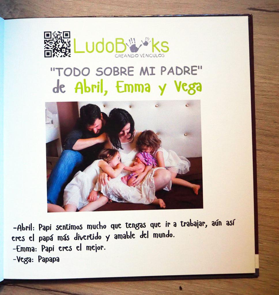 Libro personalizado para papá con dedicatoria y foto