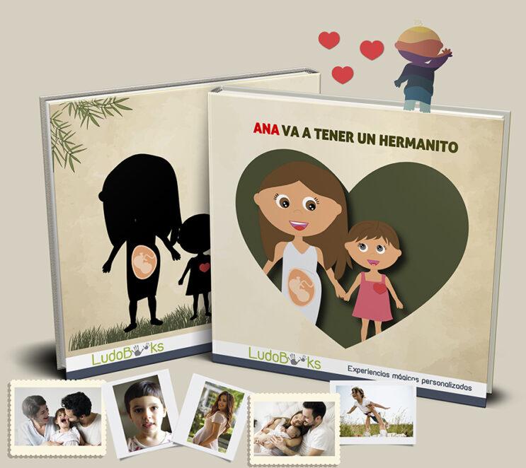 Libro personalizado para explicarle a un niño que va a tener un hermanito
