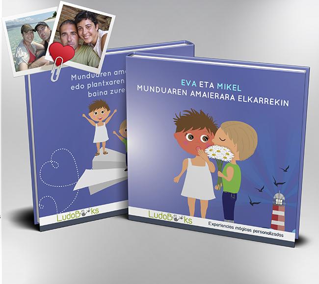 Libro personalizado en euskera de amor