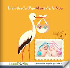 Llibres personalitzats per nedons i pares - L'arribada de....
