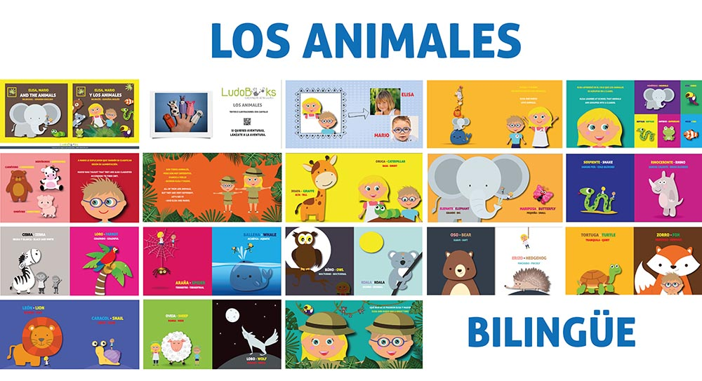 mosaico animales reducido - Libros personalizados de aventuras