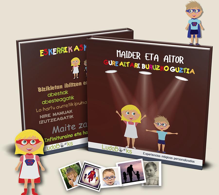 Libro personalizado en euskera para aitas