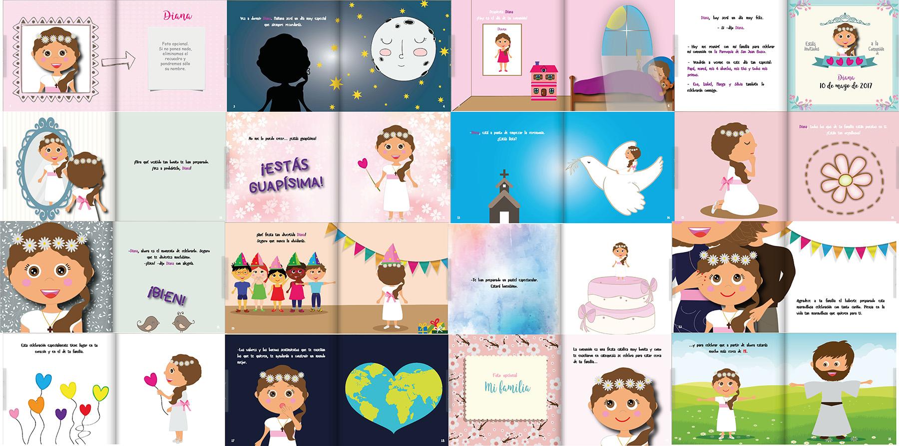 libros personalizados de primera comunión