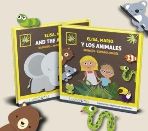 Cuento personalizado bilingüe de los animales