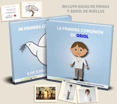 Libro personalizado de Comunión para niño