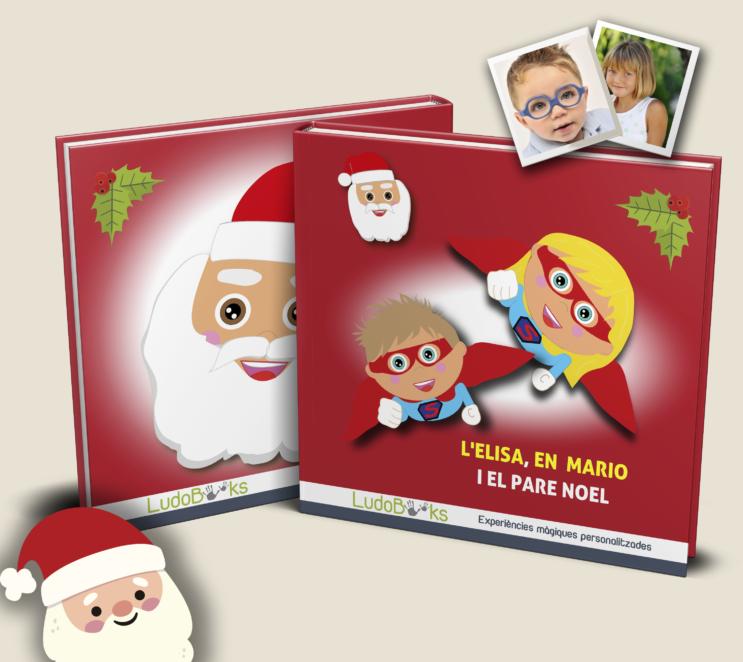 Libro personalizado con papá Noel